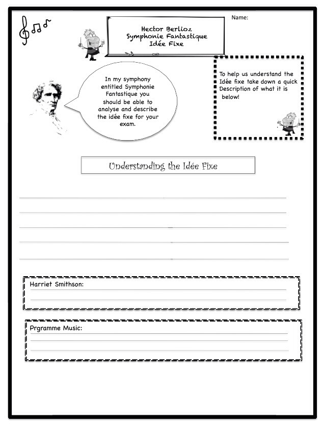 Tchaikovsky Worksheets for Music Teachers – Romeo and Juliet Worksheets