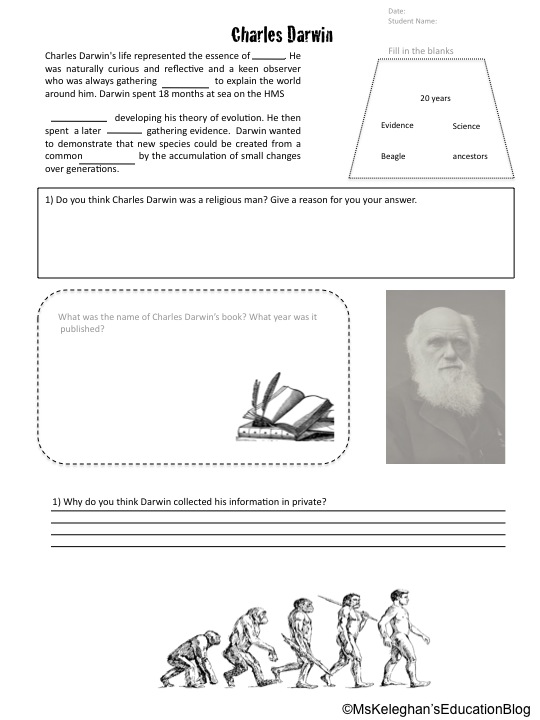 Darwin on Darwin S Natural Selection Worksheet