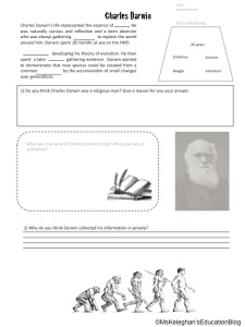 Charles Darwin Worksheet
